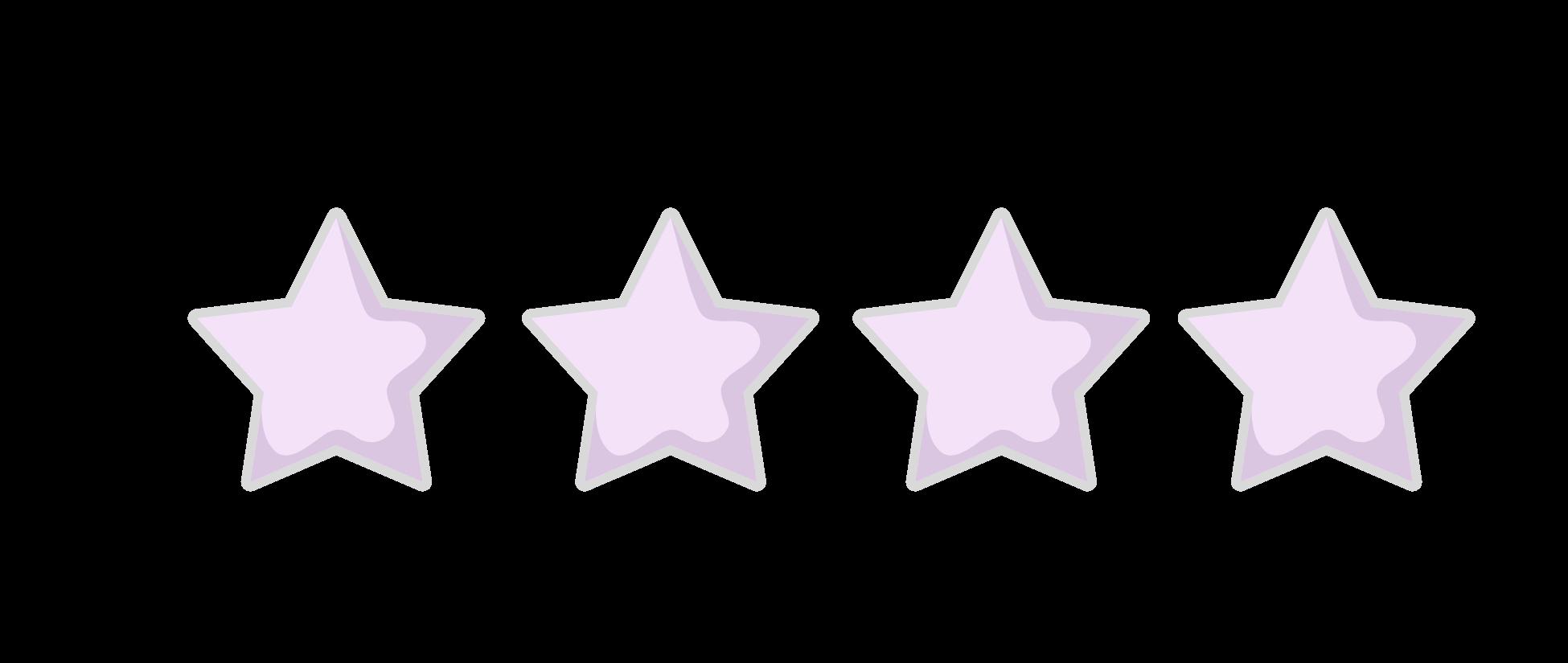 4 Star Rating purple