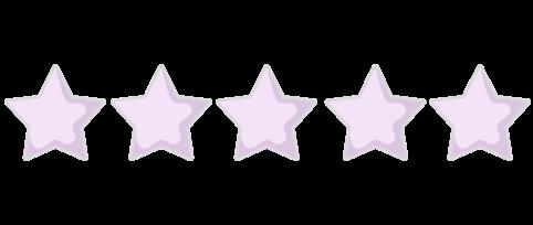 5 Star Rating purple